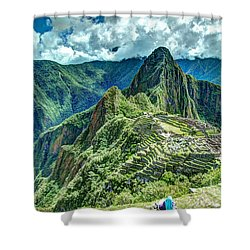 Palace In The Sky Shower Curtain