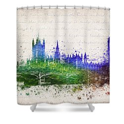 Palace Of Westminster Shower Curtain by Aged Pixel