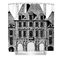 Place Royal At Paris Shower Curtain