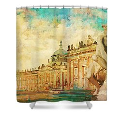 Palaces And Parks Of Potsdam And Berlin Shower Curtain by Catf