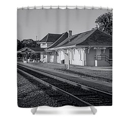 Palatka Train Station Shower Curtain by Lynn Palmer