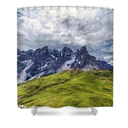 Shower Curtain featuring the photograph Pale San Martino - Hdr by Antonio Scarpi