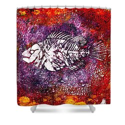 Paleo Fish Shower Curtain