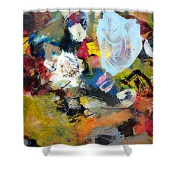 Palette Abstract Shower Curtain by Michelle Calkins