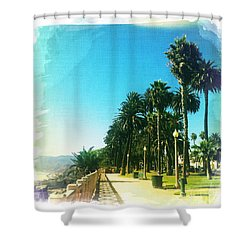 Palisades Park Shower Curtain by Nina Prommer
