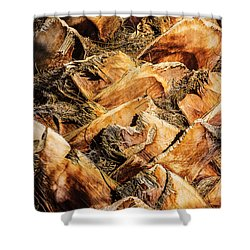 Palm Bark Shower Curtain