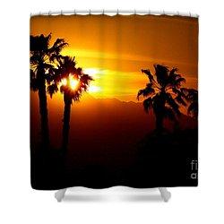 Palm Desert Sunset Shower Curtain by Patrick Witz