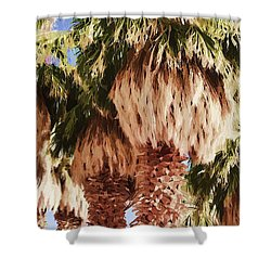 Palm Shower Curtain by Muhie Kanawati