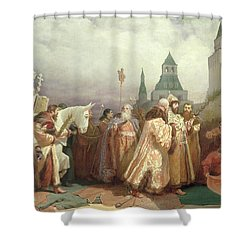 Palm Sunday Procession Under The Reign Of Tsar Alexis Romanov Shower Curtain