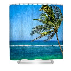 Palm Tree Swaying Shower Curtain