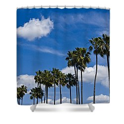 Palm Trees In San Diego California No. 1661 Shower Curtain by Randall Nyhof