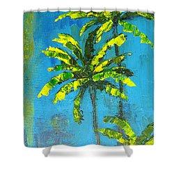 Palm Trees Shower Curtain by Patricia Awapara