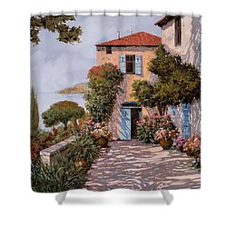 Palmette Viola Shower Curtain by Guido Borelli