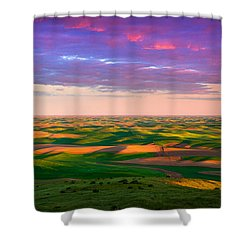 Palouse Land And Sky Shower Curtain by Inge Johnsson
