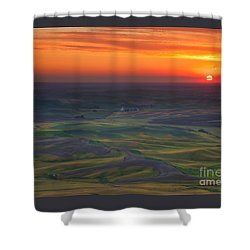 Palouse Sunset Shower Curtain