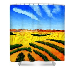Shower Curtain featuring the painting Palouse by Thomas Gronowski
