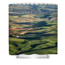 Palouse - Washington - Farms - #2 Shower Curtain by Nikolyn McDonald