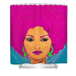 Pam Grier Bold Diva C1979 Pop Art Shower Curtain