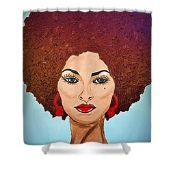Pam Grier C1970 The Original Diva Shower Curtain