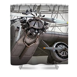 Pan Am Airplane Shower Curtain by Karyn Robinson