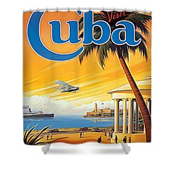 Pan Am Cuba  Shower Curtain