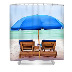 Shower Curtain featuring the photograph Panama City Beach II by Vizual Studio