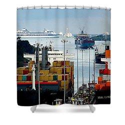 Panama Express Shower Curtain by Karen Wiles