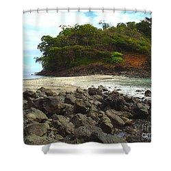 Panama Island Shower Curtain by Carey Chen