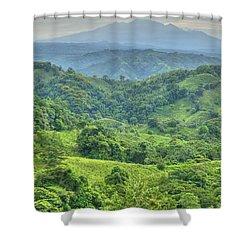 Panama Landscape Shower Curtain by Heiko Koehrer-Wagner