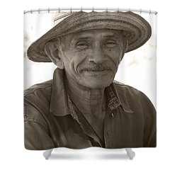 Panamanian Country Man Shower Curtain by Heiko Koehrer-Wagner
