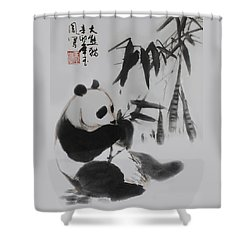 Panda And Bamboo Shower Curtain