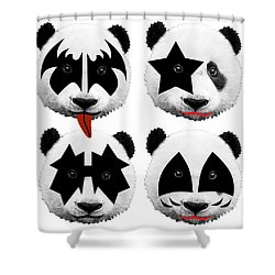 Panda Kiss  Shower Curtain