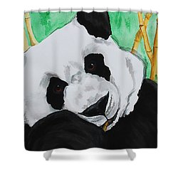 Panda Shower Curtain by Patricia Olson
