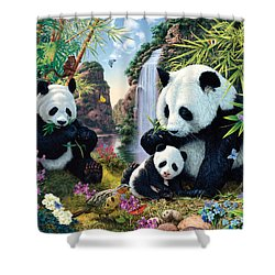 Panda Valley Shower Curtain by Steve Read