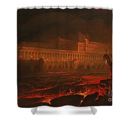 Pandemonium Shower Curtain by John Martin