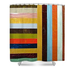 Panel Abstract L Shower Curtain