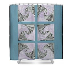 Shower Curtain featuring the mixed media Panes by Ron Davidson