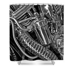 Panhead Poetry Shower Curtain by Linda Bianic