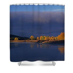 Shower Curtain featuring the photograph Panorama Clearing Storm Oxbow Bend Grand Tetons National Park Wyoming by Dave Welling