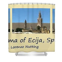 Panorama Of Ecija Spain Shower Curtain
