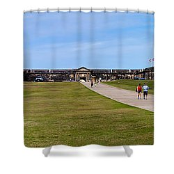 Panorama Of El  Morro Castillo Shower Curtain by Thomas Marchessault