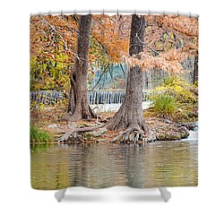Panorama Of Guadalupe River In Hunt Texas Hill Country Shower Curtain