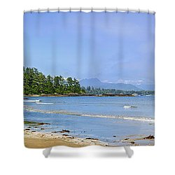 Panorama Of Pacific Coast On Vancouver Island Shower Curtain by Elena Elisseeva