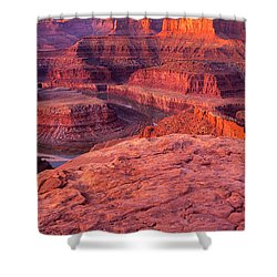 Shower Curtain featuring the photograph Panorama Sunrise At Dead Horse Point Utah by Dave Welling
