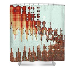 Panoramic City Reflection Shower Curtain