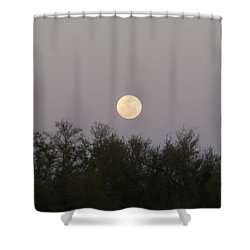 Panoramic New Orleans Moon Rising Shower Curtain by Joseph Baril