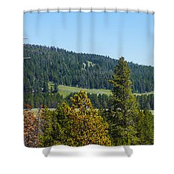 Panoramic Yellowstone Landscape Shower Curtain
