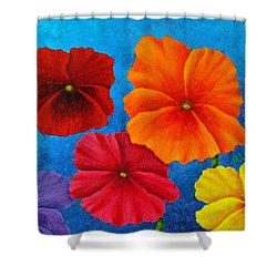 Pansies For Rosalina Shower Curtain by Pamela Allegretto