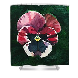 Pansy Red Shower Curtain