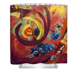 Shower Curtain featuring the painting Pansymania by Donna Tuten